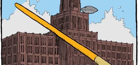 Dit iconische, Utrechtse gebouw bestaat uit 22 miljoen stenen: 'Krankzinnig, die ufo op zijn dak'