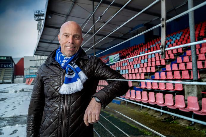 Voorzitter Jan-Hein Schouten van de raad van commissarissen van FC Den Bosch, afgelopen winter in stadion De Vliert.