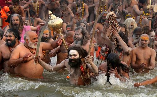 Foto van Kumbh Mela, het grootste 'festival' op aarde