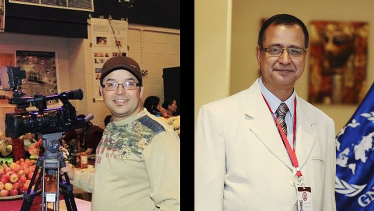 Ghimire Gundev en zijn collega Krishna Upadhyaya. Beeld ap