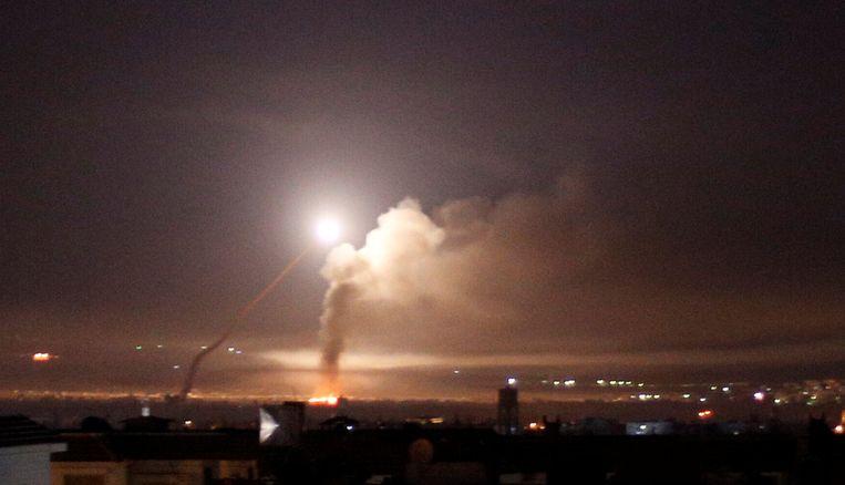 Damascus vannacht.  Beeld REUTERS