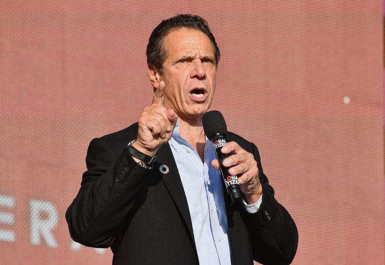 De gouverneur van New York, Andrew Cuomo, stelde de plannen vandaag voor.  Beeld AFP