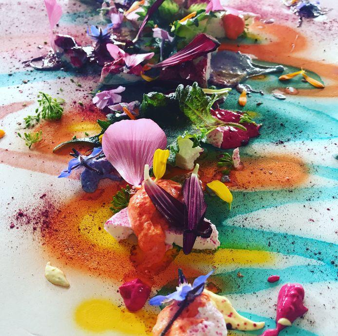 Japser combineert kunst met voedsel.