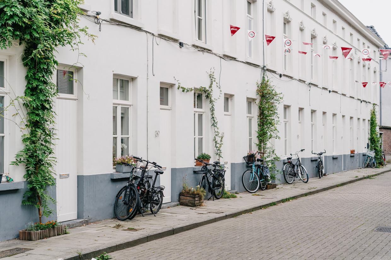De zogenoemde Vicushuisjes in de Sparrestraat in Gent. Achter de gerenoveerde gevels gaan veel gebreken schuil. Beeld Wouter Van Vooren