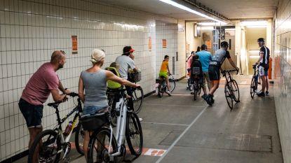 """Opnieuw tot uur file aan fietstunnel onder Schelde: """"Blijf er weg"""", smeekt Vlaams Verkeerscentrum"""
