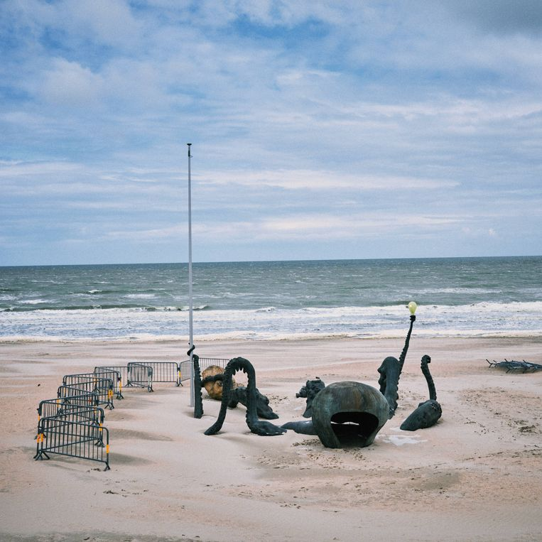 'Touching To Sea You Through Our Extremities' van Laure Prouvost in De Panne. Beeld Thomas Sweertvaegher