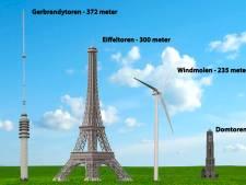 Acht windmolens van 235 meter hoog in polder Rijnenburg bij De Meern