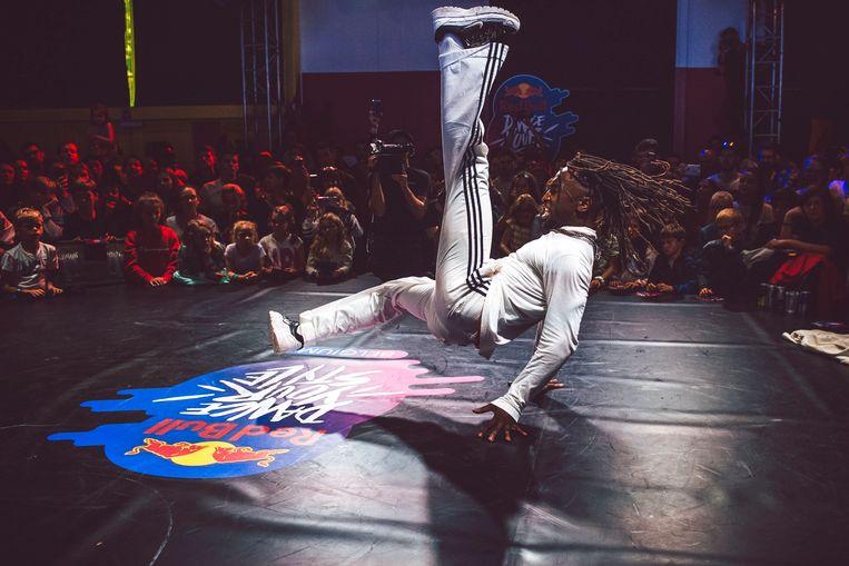 Archiefbeeld. Een breakdance-evenement in het Urban Center te Antwerpen (29/09/2019). Beeld Wilhelm Westergren/ Red Bull Con