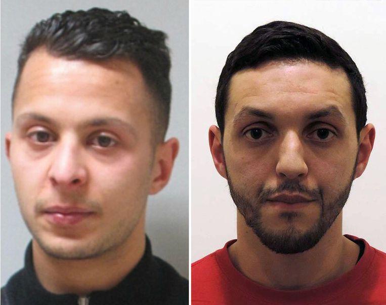 Salah Abdeslam en Mohamed Abrini. Beeld kos