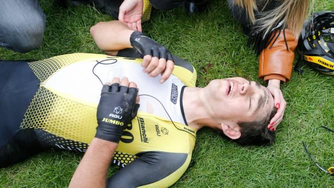 Alsof alle pech nog niet volstond: Van Aert houdt twee boetes over aan bewogen Parijs-Roubaix