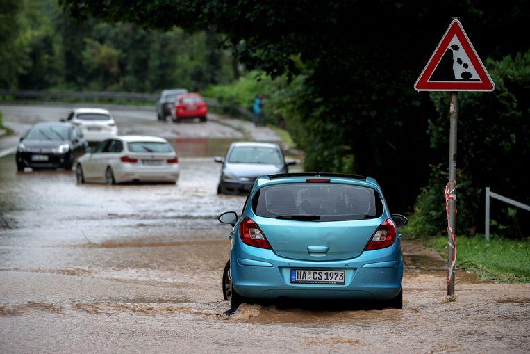 Wateroverlast in Hagen, Duitsland Beeld EPA