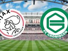 Ajax op zoek naar vorm tegen FC Groningen