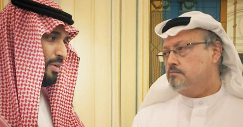 The Dissident, te zien tijdens Movies that Matter; over de gruwelijke moord op Kamal Khashoggi (rechts), hier met de door hem bekritiseerde kroonprins Mohammed bin Salman. Beeld
