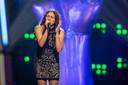 Anna Monaco bij haar deelname aan  'The Voice Kids'