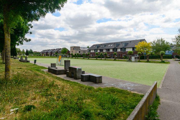 Het verlaten speelveldje in Veenendaal.