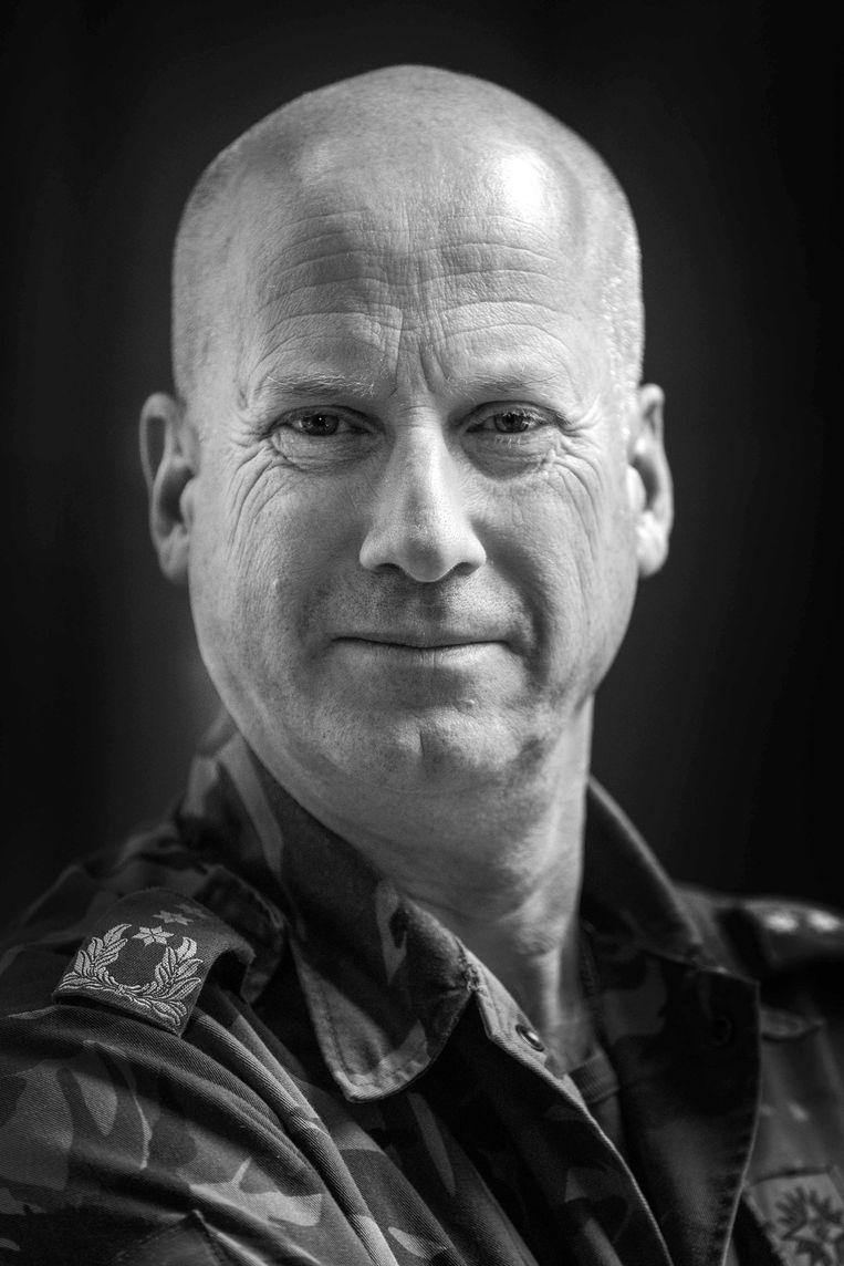 Luitenant-generaal Martin Wijnen, Commandant Landstrijdkrachten. Hij heeft sinds 2019 de leiding over de Koninklijke Landmacht. Hij nam in zijn lange loopbaan onder andere deel aan de ISAF-missie in Afghanistan. Beeld Werry Crone