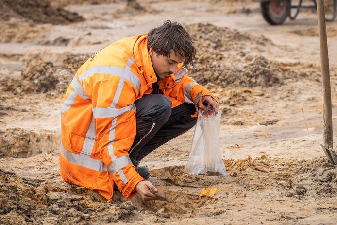 Opgravingen tussen Energieweg en A28 in Amersfoort ivm toekomstige reconstructie van knooppunt Hoevelaken