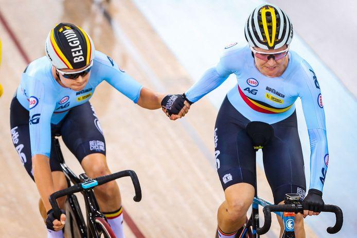 Lotte Kopecky en Jolien D'hoore rijden volgende week vrijdag in Gent de kwalificaties ploegkoers van de Belgian International Track Meeting.