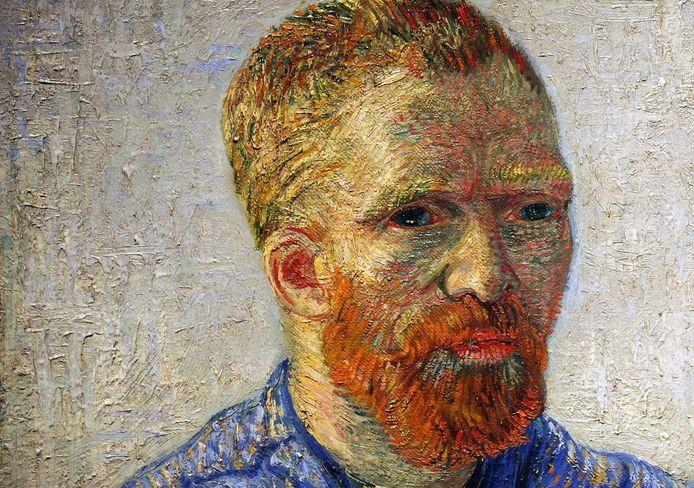 Detail van een zelfportret.