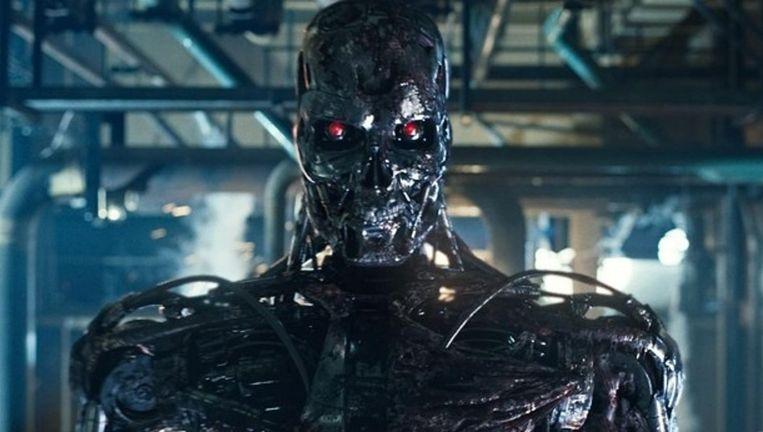 Een 'killer robot' uit de film Terminator. Voor zover bekend zijn er geen legers die op dit moment beschikken over machines die met een eigen bewustzijn aan het moorden slaan. Beeld