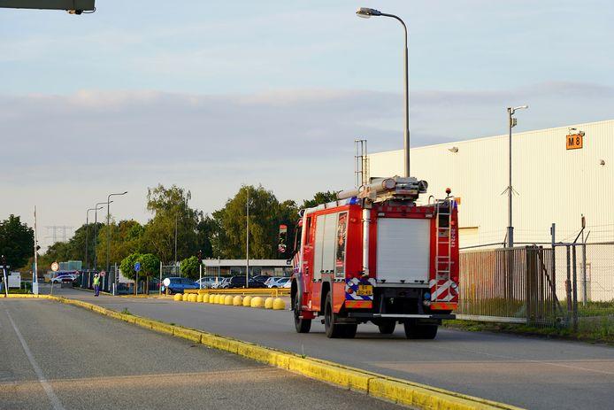 Afgelopen woensdag woedde ook een brand in de glasfabriek.