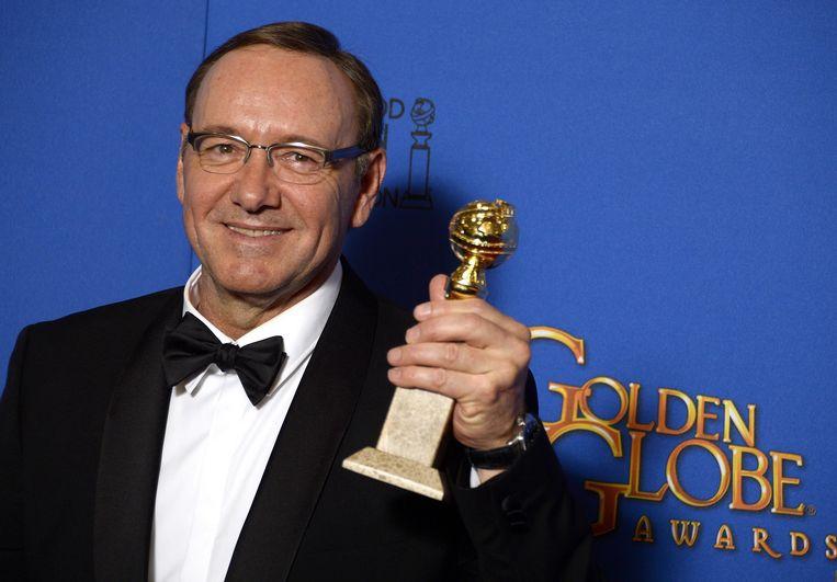 Kevin Spacey win in 2015 een Golden Globe voor zijn prestaties in 'House of Cards'.
