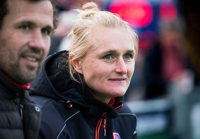 Marieke Dijkstra, coach van SCHC.