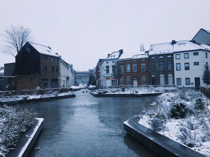 Sneeuwbeelden Aalst.