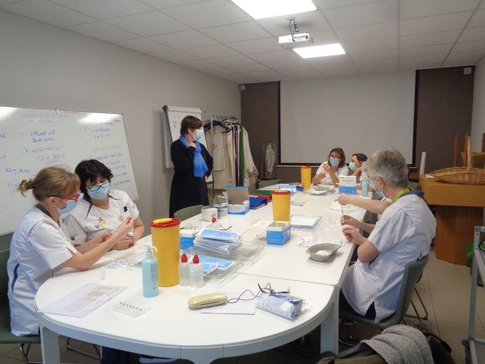 De vaccinaties in WZC Maria Boodschap worden voorbereid.