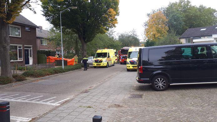 De situatie na het incident in de Haaftenlaan in Tiel.