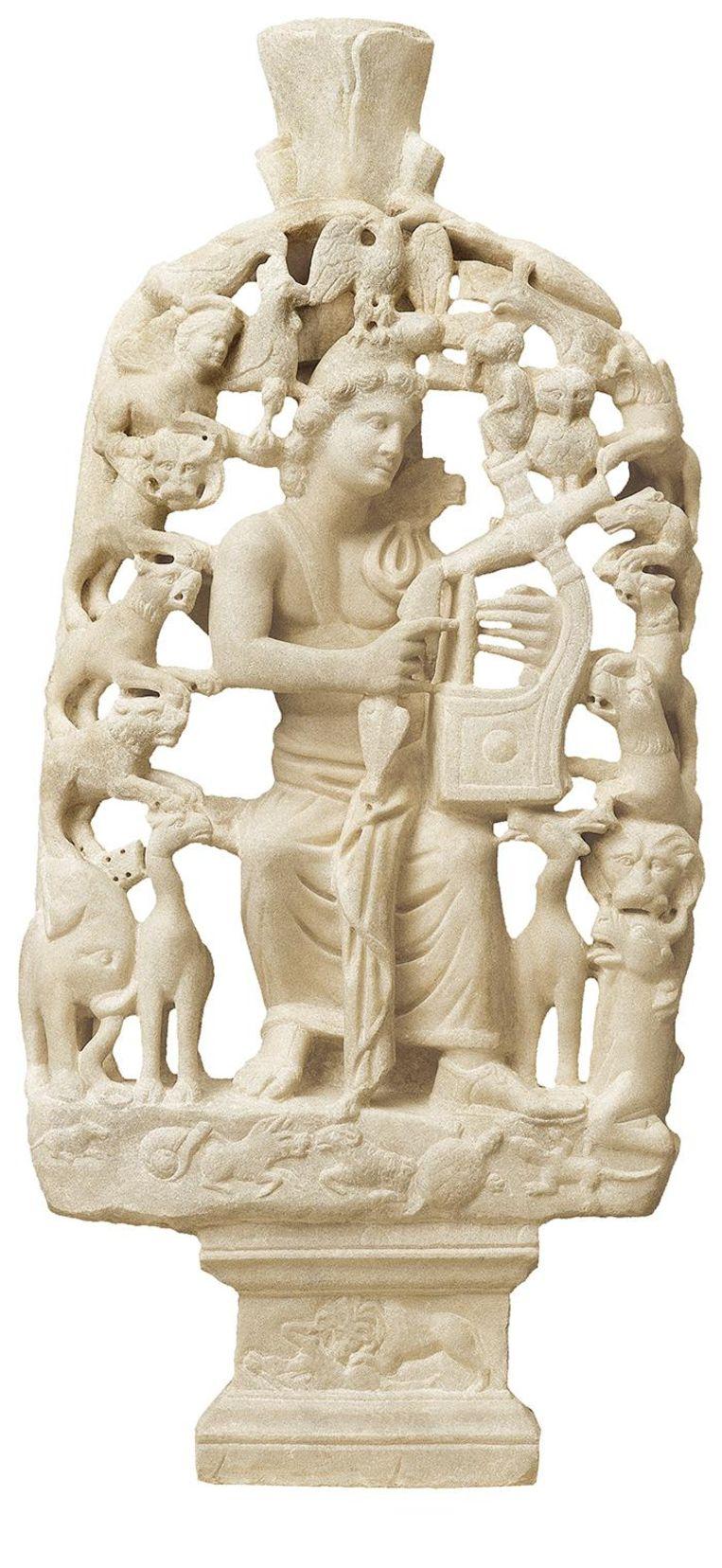 Grieks beeld van Orpheus. Beeld null