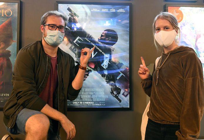 Mirco en Lotte kwamen voor het eerst naar de cinema sinds de heropening in juli.
