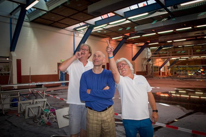 Bestuursleden Hans Heinink en Marcel Ruizendaal en bedrijfsleider Georg Dietrich.