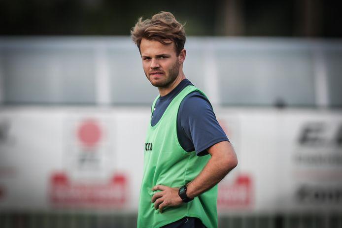 Tom Houwaer scoorde voor Sporting Hasselt thuis tegen Berchem Sport.
