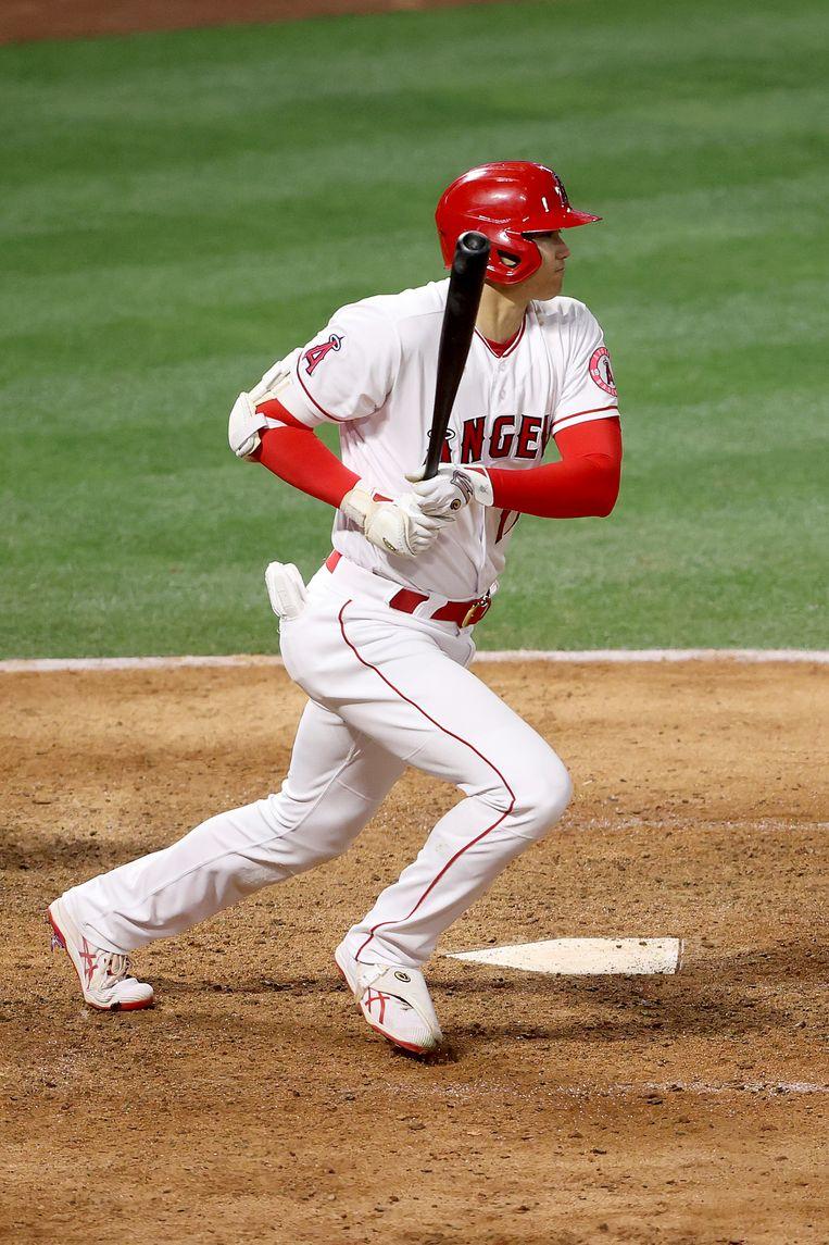 Ohtani is de eerste werper sinds 1921 die de meeste homeruns heeft geslagen. Beeld Getty Images