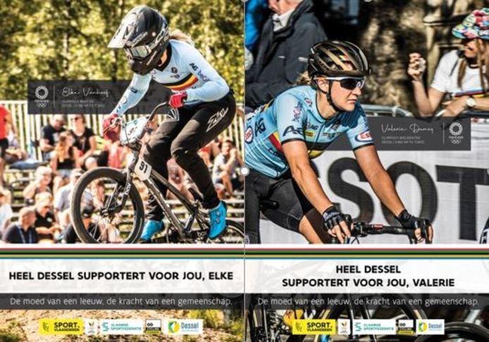 Dessel support voor lokale topsporters Elke Vanhoof en Valerie Demey op de Olympische Spelen.