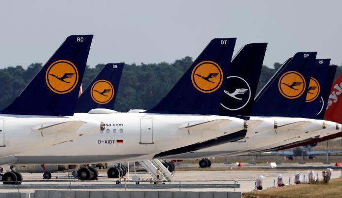 Een beeld van tijdens de eerste coronagolf, in juni 2020 op de luchthaven van Berlijn.