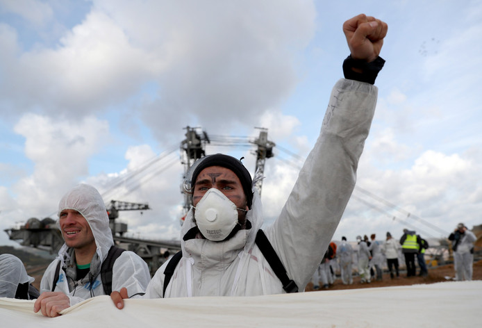 Klimaatactivisten protesteren tegen de klimaattop.
