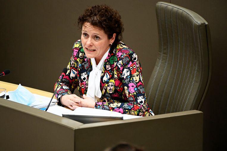 Vlaams minister van Mobiliteit en Openbare Werken Lydia Peeters (Open Vld). Beeld Photo News