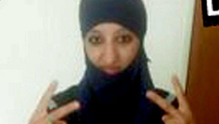 Hasna Ait Boulahcen, de eerste zelfmoordterroriste in een westers land. Beeld kos
