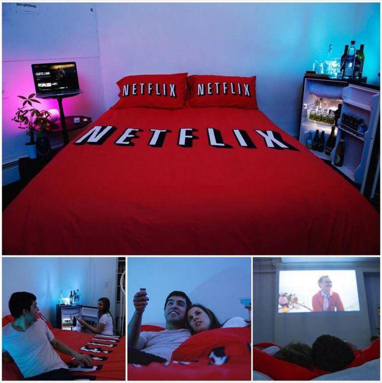 De Netflix & Chill-AirBnB bedacht door Tom Galle. Beeld Instagram