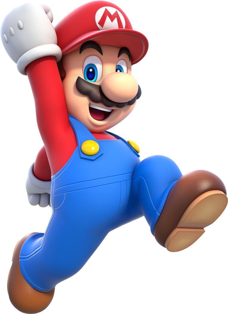 Mario, een personage die de hoofdrol speelt in de gelijknamige spelreeks van Nintendo. Beeld RV