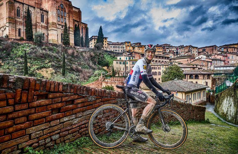 Zdenek Stybar na de Strade Bianche in Siena.