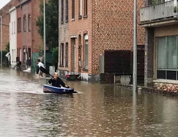 Waterellende aan de Kessel-Losesteenweg in Leuven.