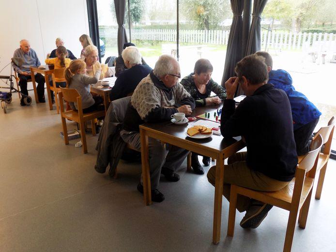 Sfeerfoto van een vorige editie van het dorpsrestaurant Vleteren