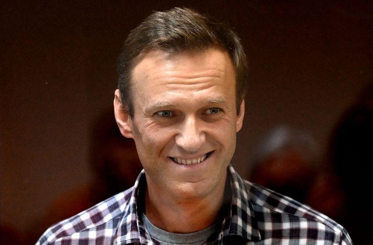 Archieffoto van oppositieleider Aleksej Navalny.  Beeld AFP