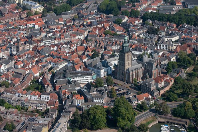 De binnenstad van Zutphen.