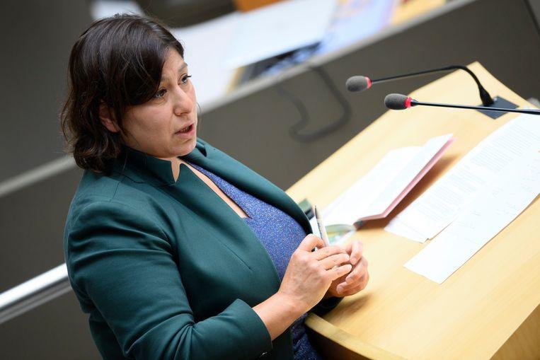 Groen-voorzitster Meyrem Almaci  Beeld Photo News