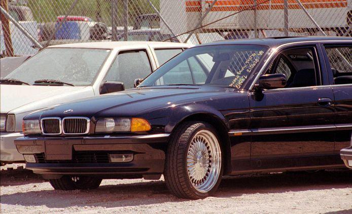 De BMW waarin Tupac Shakur in 1996 werd neergeschoten.
