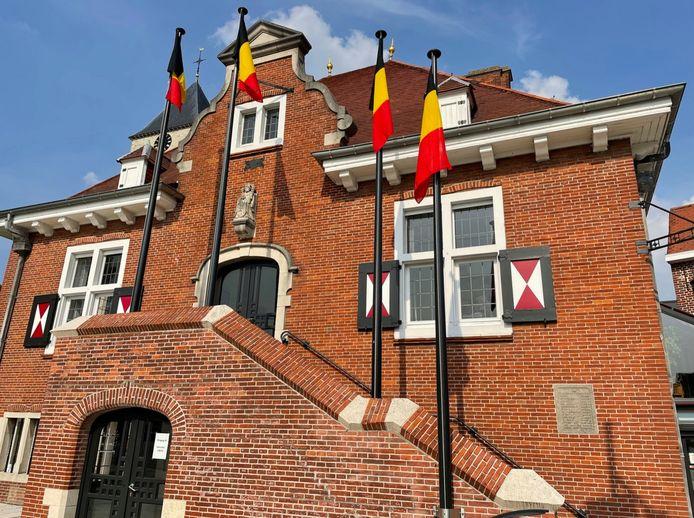 De driekleur in Sint-Lievens-Houtem.
